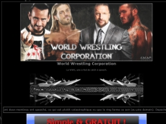 Détails : World Wrestling Corporation.